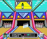 Dynamite Bowl MSX You can control the curve of the ball. Make a curve to the left or right or no curve at all.