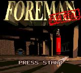 Foreman for Real Game Gear Title screen