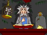 The Lost Mind of Dr. Brain Windows Intro:  Dr. Brain is in his castle examining a floating book