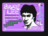 Bruce Lee PC Booter Title screen (CGA with composite monitor)