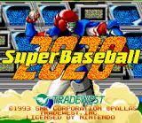 Super Baseball 2020 SNES US Title Screen