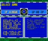 Super Baseball 2020 SNES Game Selection Menu