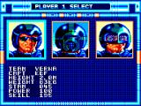 Speedball SEGA Master System Choosing your team
