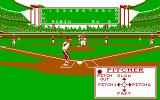 Pete Rose Pennant Fever DOS Pitcher, select a pitch! (CGA)