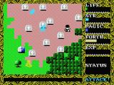 Hydlide II: Shine of Darkness MSX The graveyard.