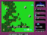 Hydlide MSX The game opens with a demo mode.