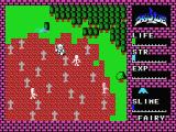 Hydlide MSX Dead men walking around at a graveyard.