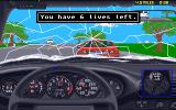 The Duel: Test Drive II Amiga Another car accident.