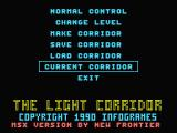 The Light Corridor MSX Options screen