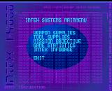 Alien Breed II: The Horror Continues Amiga Intex terminal menu.