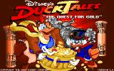 Disney's Duck Tales: The Quest for Gold Amiga Title screen.