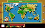 Disney's Duck Tales: The Quest for Gold Amiga Map of the world.