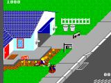 Paperboy SEGA Master System Crashing in the flowers