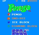 Pengo Game Gear Title screen