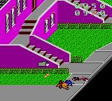 Paperboy 2 Game Gear Falling off the bike