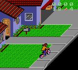 Paperboy 2 Game Gear Starting out in a quiet neighbourhood