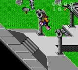 Paperboy 2 Game Gear Doing a trick jump