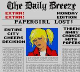 Paperboy 2 Game Gear She doesn't look like God's little lamb