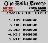 Paperboy 2 Game Gear Amazing top five