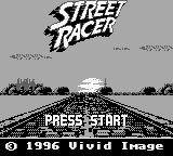 Street Racer Game Boy Title screen.