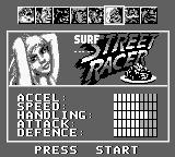 Street Racer Game Boy Choosing a pilot.