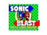 Sonic Blast SEGA Master System The title screen, ported straight from Game Gear