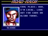 Road Rash SEGA Master System Sledge gives advice