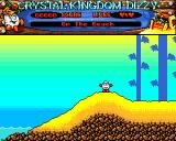 Crystal Kingdom Dizzy Amiga On the beach.