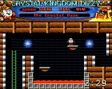 Crystal Kingdom Dizzy Amiga It's a timed quest. You must find the crystal and back to the beach in three minutes.