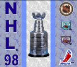 NHL 98 SNES Title screen.