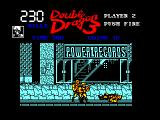Double Dragon 3: The Rosetta Stone Amstrad CPC An enemy is down on the ground