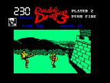 Double Dragon III: The Sacred Stones Amstrad CPC Boss kicks at nothingness
