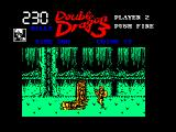 Double Dragon III: The Sacred Stones Amstrad CPC One of the enemies get turned into a tree stump