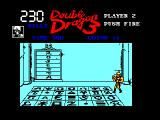 Double Dragon III: The Sacred Stones Amstrad CPC The tile room. Step on the tiles that make up the word ROSETTA