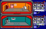 Spy vs Spy Amstrad CPC Black discovers a trap, and gets electrocuted