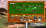 Jack Nicklaus Golf & Course Design: Signature Edition DOS overhead of hole 1 - MCGA/VGA