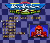 Micro Machines 2: Turbo Tournament SNES SNES Opening Screen