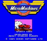 Micro Machines SNES SNES Opening Screen