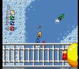 Micro Machines SNES Boat racing through a Bathtub