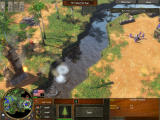 Age of Empires III Windows Attacking enemy outpost.