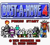 Bust-A-Move 4 Game Boy Color Title screen.