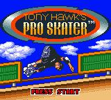 Tony Hawk's Pro Skater Game Boy Color Title screen.