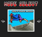 Tony Hawk's Pro Skater Game Boy Color Main menu.