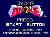 Dynamite Duke SEGA Master System Title screen