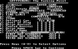 Gettysburg: The Turning Point DOS Main menu and game options (CGA with RGB monitor)