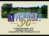 PGA Tour 96 Genesis The quite mundane title screen