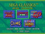 Sega Classics Arcade Collection (Limited Edition) SEGA CD The game selection screen - pretty much like Mega Games 1 and 2, but with two extra games
