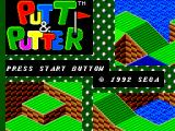 Putt & Putter SEGA Master System Title screen