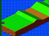 Putt & Putter SEGA Master System Hitting the switch in the nether corner turns the rolling bunker on and off