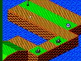 Putt & Putter SEGA Master System The ball is stuck on a rolling bunker